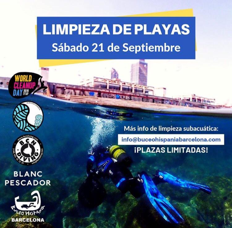 Limpieza subacuática 21/09 World Clean Up Barcelona