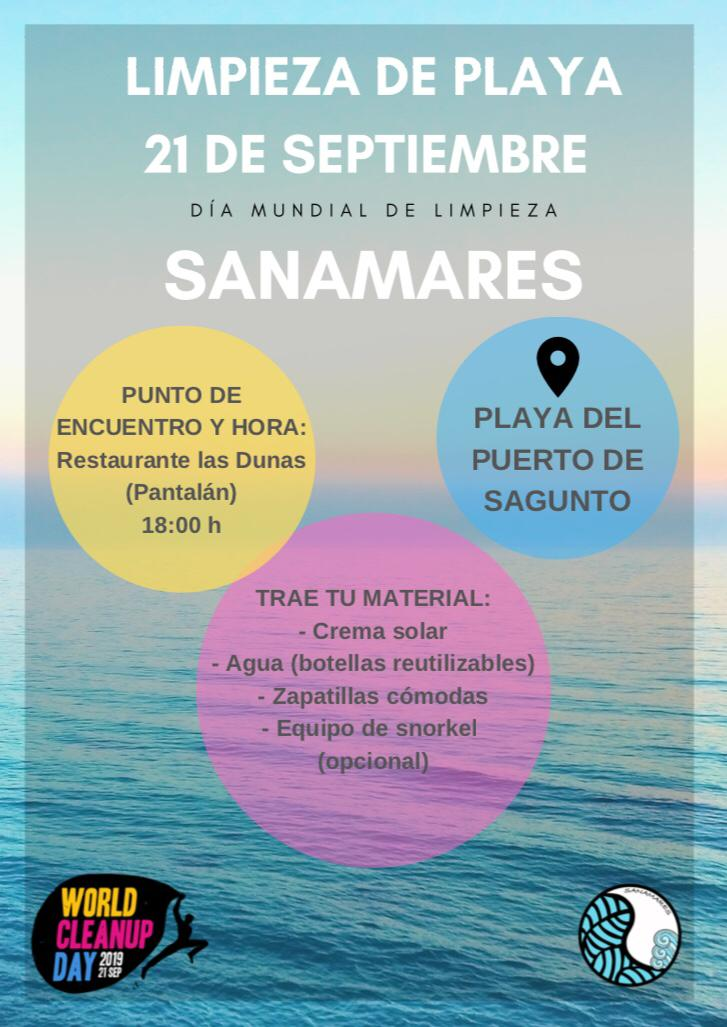 Limpieza de playa World CleanUp 21/09 Valencia