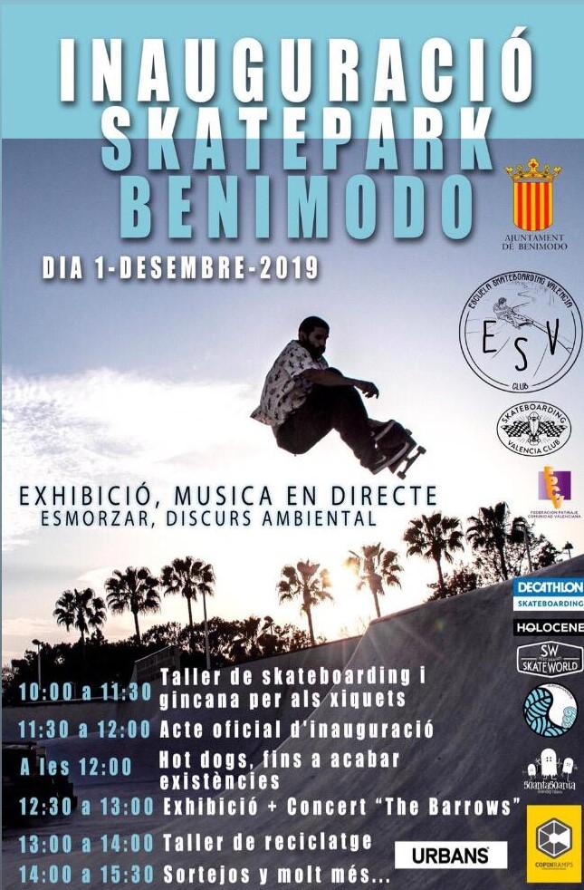 Taller de la alcantarilla al mar – Inauguración de Skatepark Benimodo