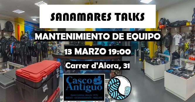 Sanamares Talks Mantenimiento de Equipo con David Mocholí en Casco antiguo (Valencia)